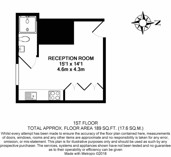 Studio Flat To Rent In Golders Green NW11, London